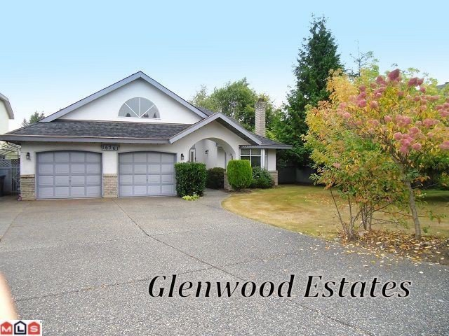 "Main Photo: 16761 CHERRYHILL CR in Surrey: Fraser Heights House for sale in ""Glenwood Estates"" (North Surrey)  : MLS®# F1313125"