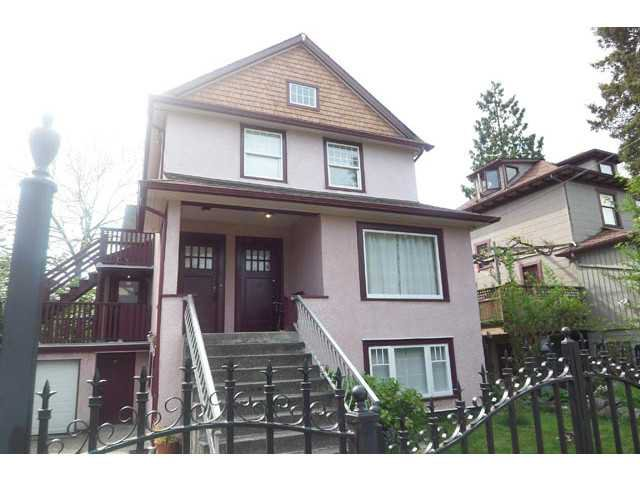 Main Photo: 1613 SALSBURY DR in Vancouver: Grandview VE House Triplex for sale (Vancouver East)  : MLS®# V1102758