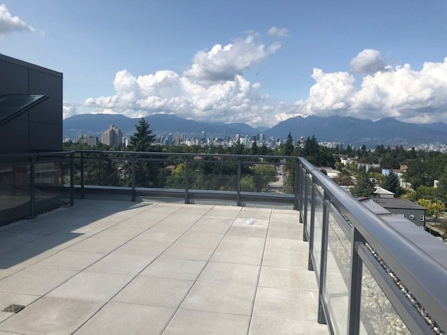 exclusive use of approx 500 sf beautiful open-view roof top terrace for enjoyment.