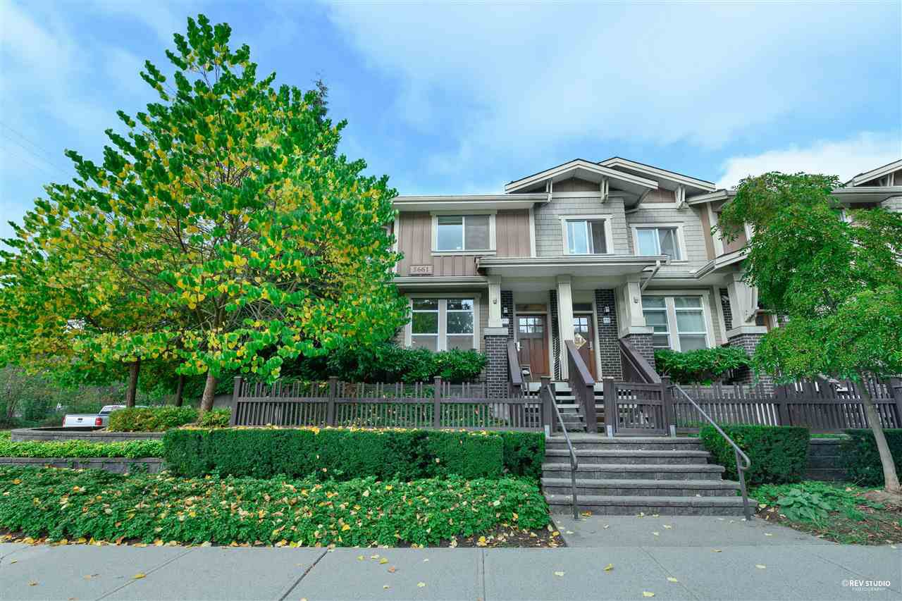 "Main Photo: 1 5661 IRMIN Street in Burnaby: Metrotown Townhouse for sale in ""Macpherson Walk West"" (Burnaby South)  : MLS®# R2505840"