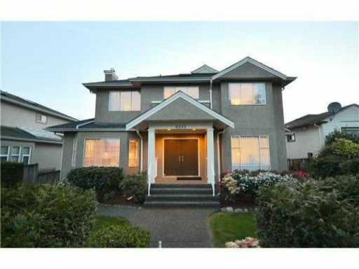 Main Photo: 6233 ONTARIO Street in Vancouver: Oakridge VW House for sale (Vancouver West)  : MLS®# V955333