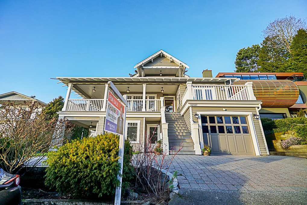 Main Photo: 14987 BEACHVIEW AVENUE: White Rock House for sale (South Surrey White Rock)  : MLS®# R2356429