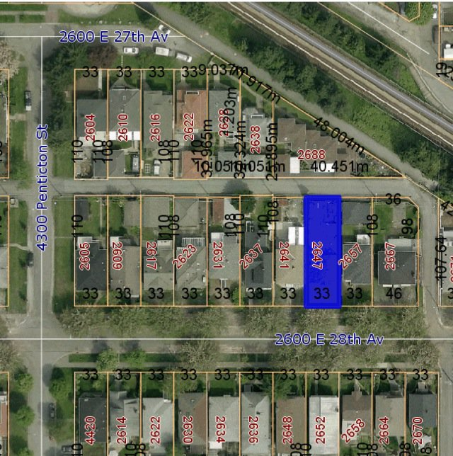 Main Photo: 2647 E 28th Avenue in Vancouver: Collingwood VE Land for sale (Vancouver East)