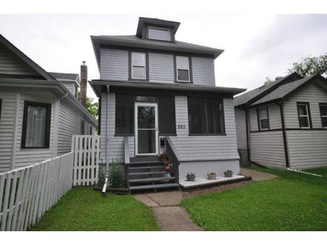 Main Photo: 553 Beverley Street in WINNIPEG: West End / Wolseley Residential for sale (West Winnipeg)  : MLS®# 1212279