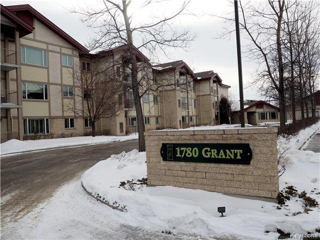 Main Photo: 307E 1780 Grant Av in Winnipeg: River Heights Condominium for sale (1D)  : MLS®# 1703121