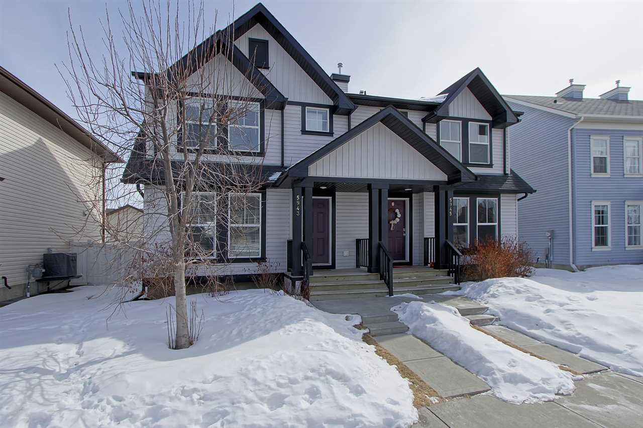 Main Photo: Terwillegar Town in Edmonton: Zone 14 House Half Duplex for sale : MLS®# E4104465