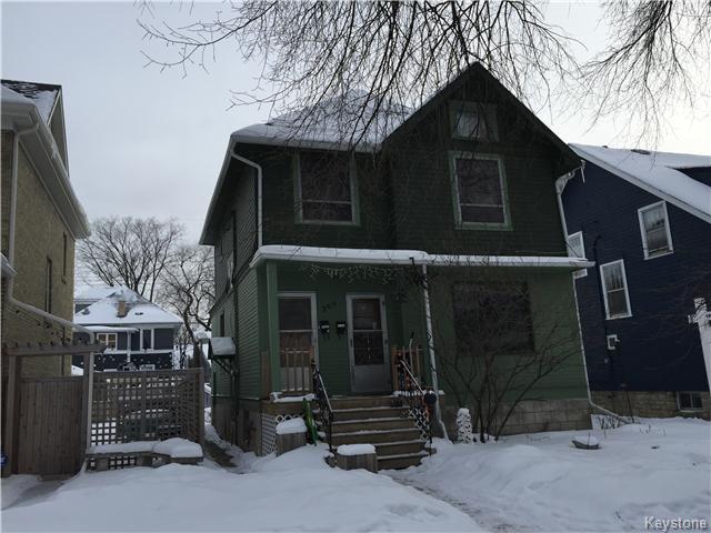 Main Photo: 209 Lipton Street in Winnipeg: Residential for sale (Wolseley)  : MLS®# 1601709