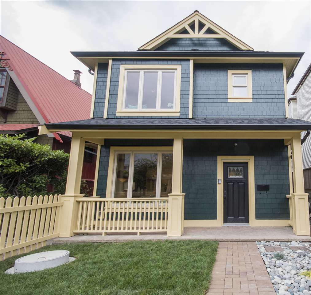 Main Photo: 1669 ADANAC STREET in Vancouver: Hastings House 1/2 Duplex for sale (Vancouver East)  : MLS®# R2123205
