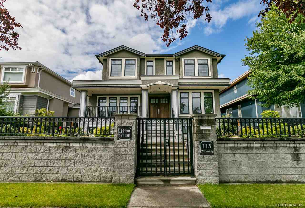 Main Photo: 115 W 46TH AVENUE in Vancouver: Oakridge VW House for sale (Vancouver West)  : MLS®# R2279007