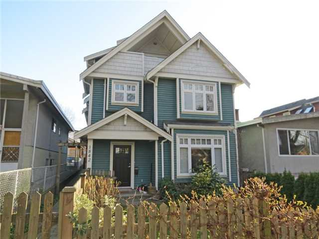 Main Photo: 1842 E 6TH Avenue in Vancouver: Grandview VE House 1/2 Duplex for sale (Vancouver East)  : MLS®# V998684
