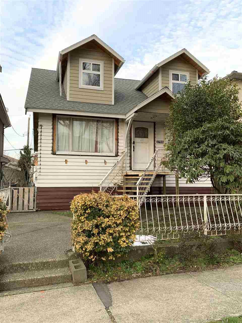 Main Photo: 2765 E 27TH Avenue in Vancouver: Renfrew Heights House for sale (Vancouver East)  : MLS®# R2436528