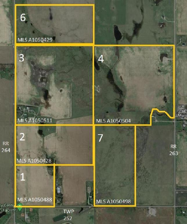 Main Photo: W4R26T25S16:5,6 Range Road 264: Rural Wheatland County Land for sale : MLS®# A1050428