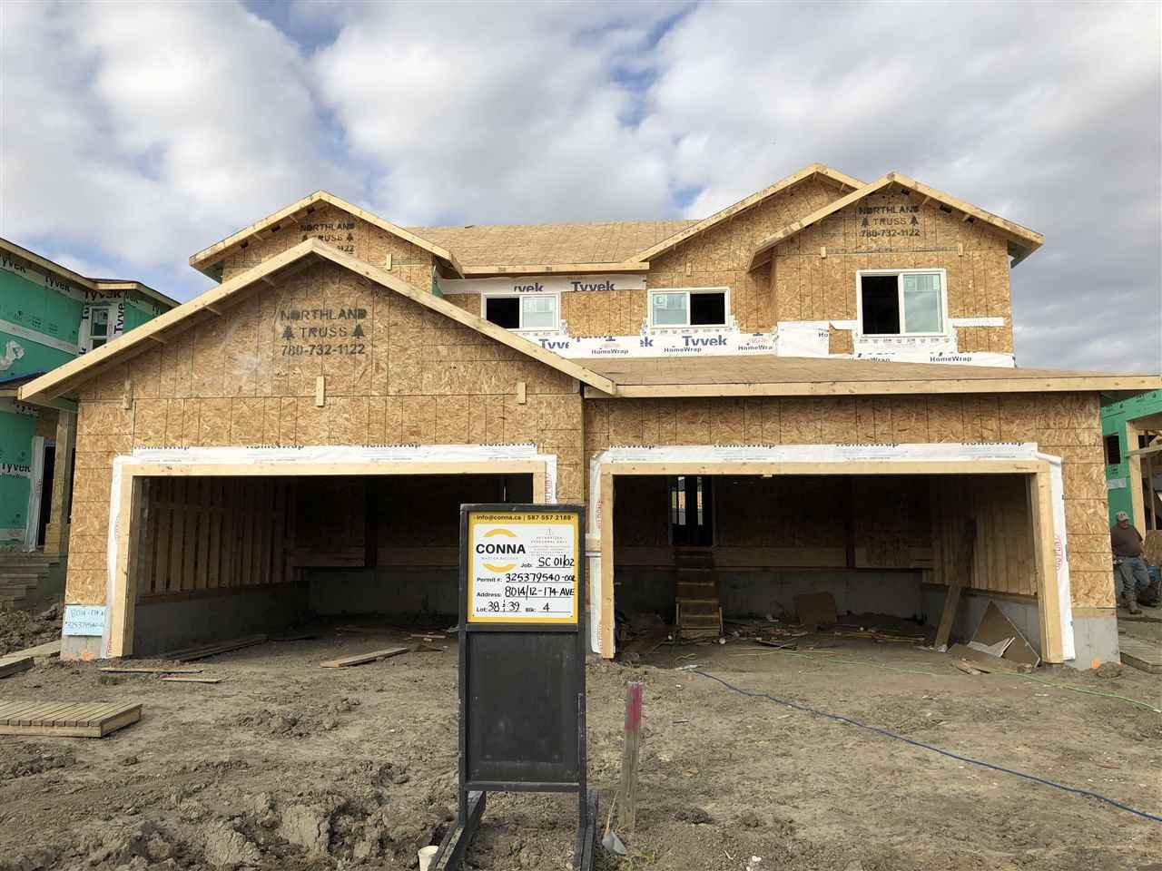 Main Photo: 8014 174 Avenue NW in Edmonton: Zone 28 House Half Duplex for sale : MLS®# E4173904