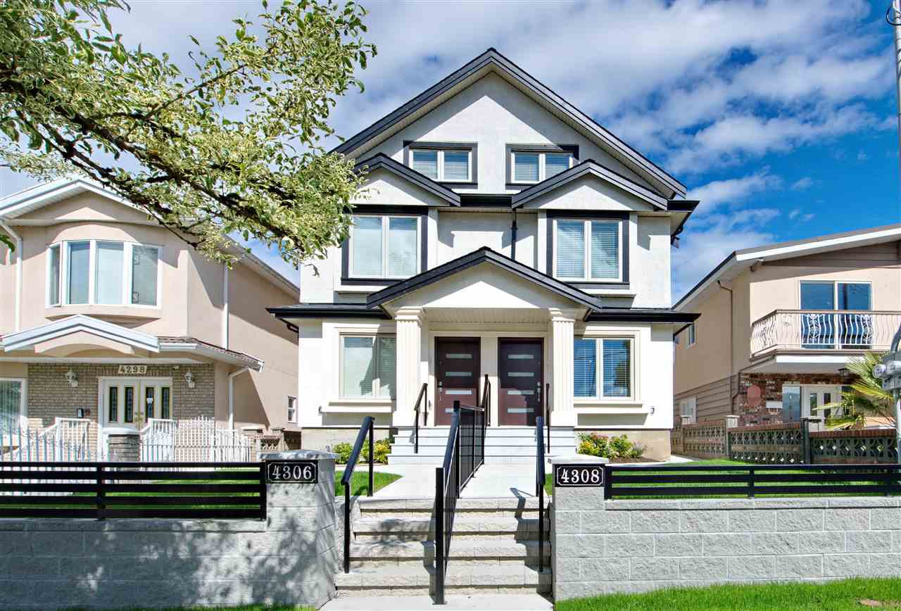 Main Photo: 4308 BEATRICE Street in Vancouver: Victoria VE 1/2 Duplex for sale (Vancouver East)  : MLS®# R2510193