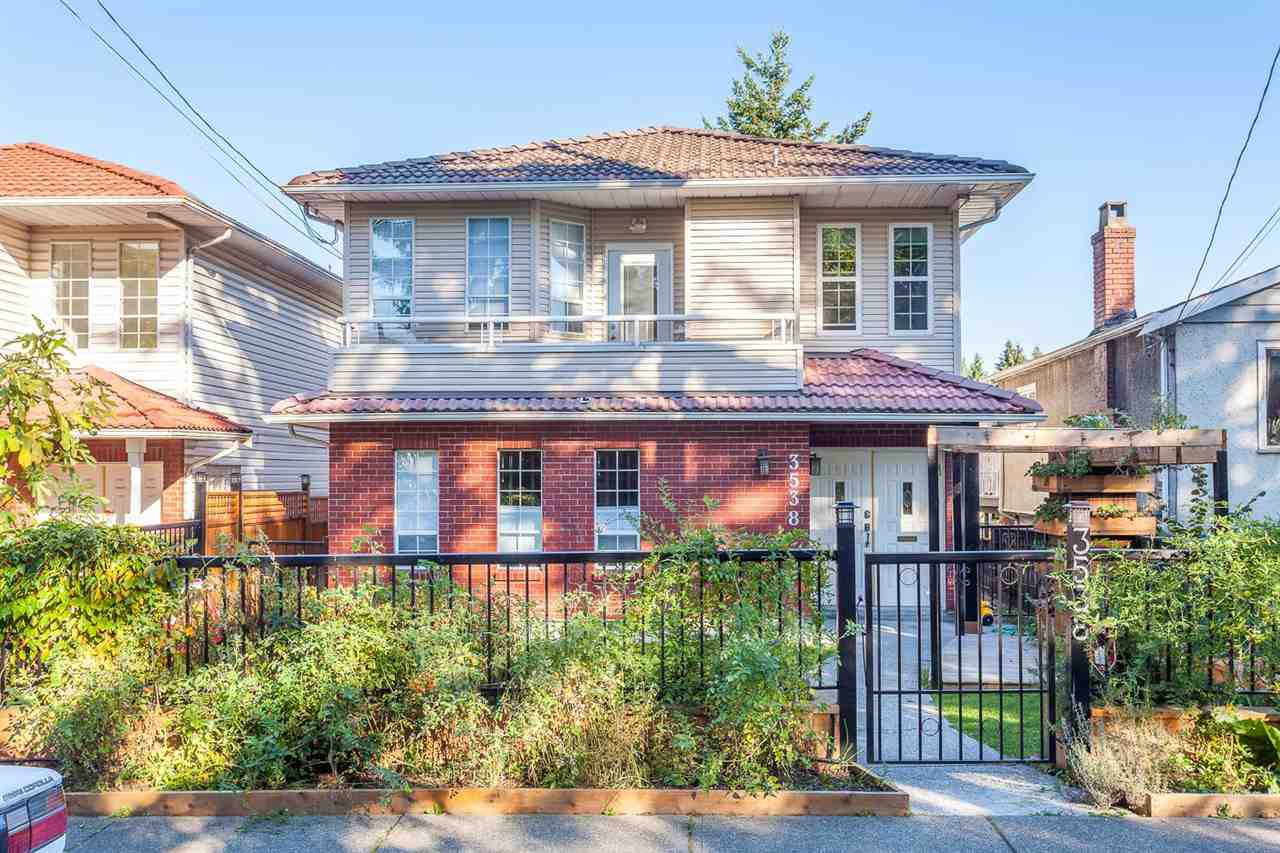 Main Photo: 3538 BELLA VISTA STREET in Vancouver: Knight House for sale (Vancouver East)  : MLS®# R2004519