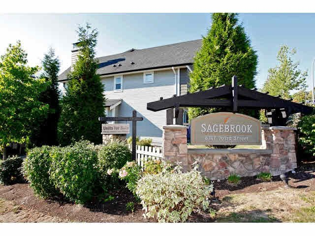"Main Photo: 23 6747 203RD Street in Langley: Willoughby Heights Townhouse for sale in ""SAGEBROOK"" : MLS®# F1421612"