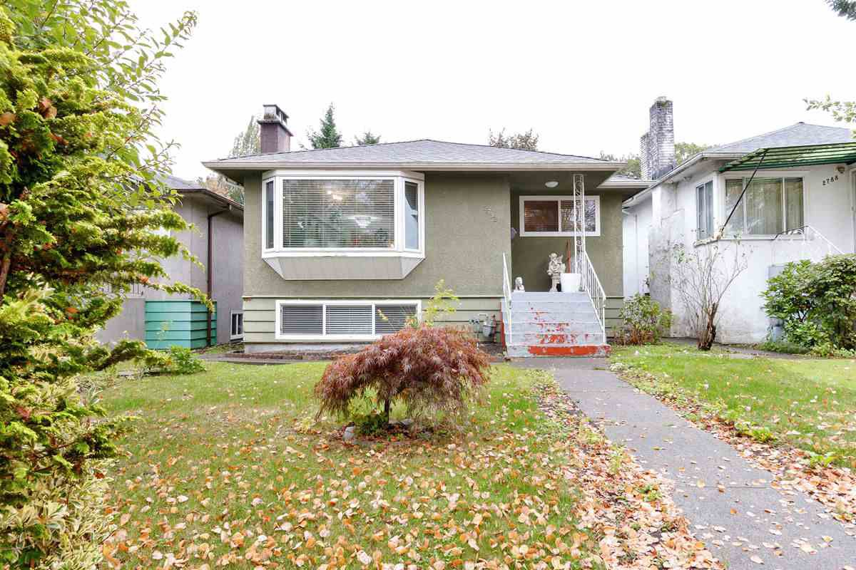 Main Photo: 2792 MCGILL Street in Vancouver: Hastings Sunrise House for sale (Vancouver East)  : MLS®# R2502118