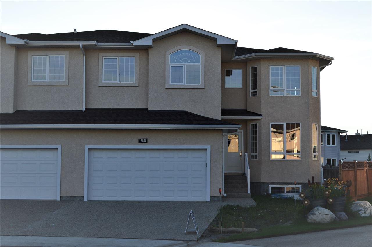 Main Photo: 15830 67B Street in Edmonton: Zone 28 House Half Duplex for sale : MLS®# E4165664