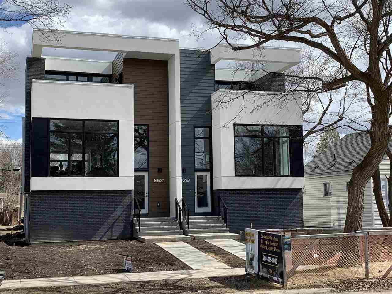 Main Photo: 9621 152 Street in Edmonton: Zone 22 House Half Duplex for sale : MLS®# E4194019