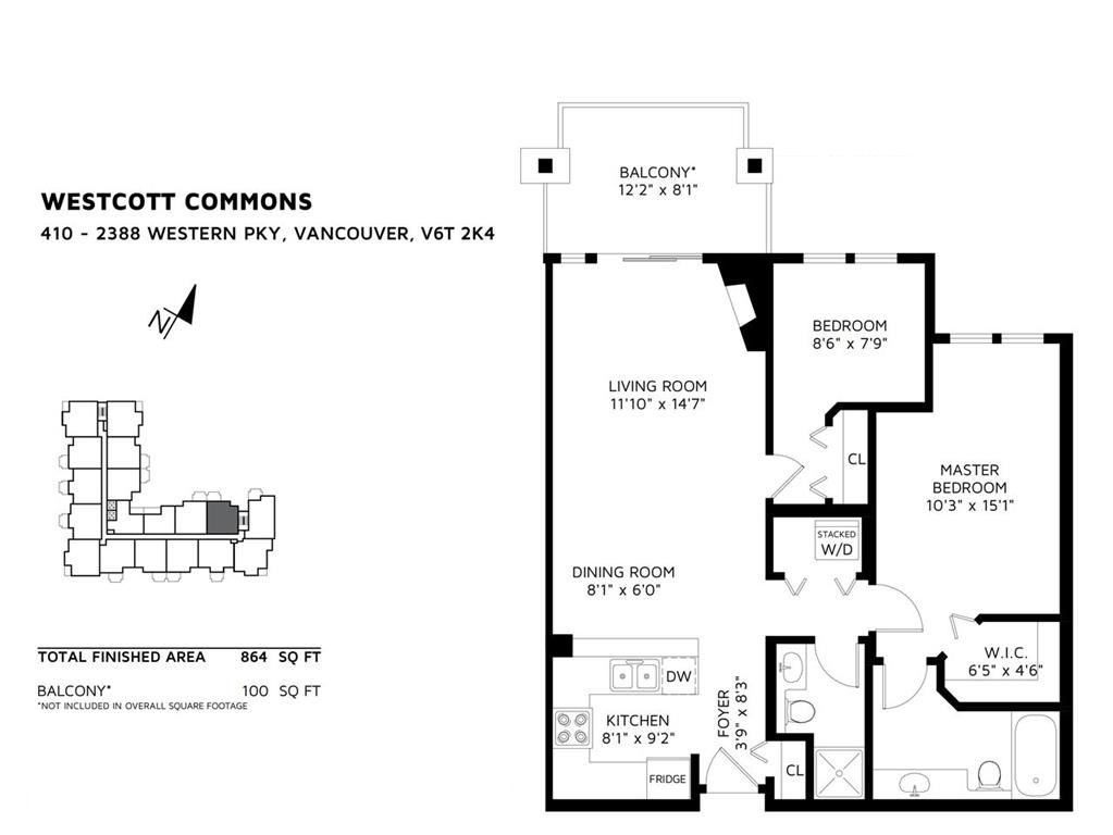 Main Photo: 410 2388 WESTERN Parkway in Vancouver: University VW Condo for sale (Vancouver West)  : MLS®# R2388271