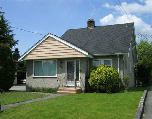 "Main Photo: 227 BLACKMAN ST in New Westminster: GlenBrooke North House for sale in ""Glenbrook North"" : MLS®# V590256"