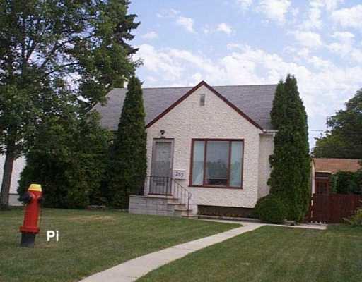 Main Photo: 283 AMHERST Street in WINNIPEG: St James Single Family Detached for sale (West Winnipeg)  : MLS®# 2713546