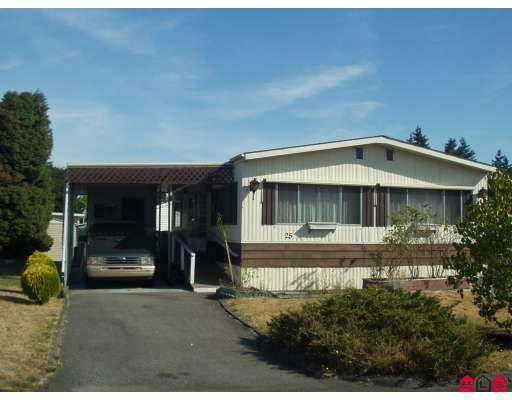 "Main Photo: 25 7850 KING GEORGE HWY HY in Surrey: East Newton Manufactured Home for sale in ""BEAR CREEK GLEN"" : MLS®# F2619424"