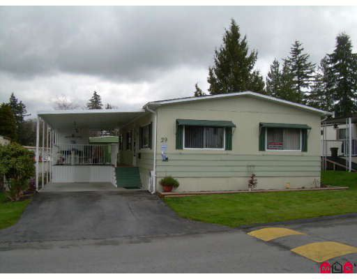 "Main Photo: 29 7790 KING GEORGE Highway in Surrey: East Newton Manufactured Home for sale in ""Crispen Bays"" : MLS®# F2809616"