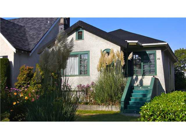 Main Photo: 85 W 23RD AV in Vancouver: Cambie House for sale (Vancouver West)  : MLS®# V916407