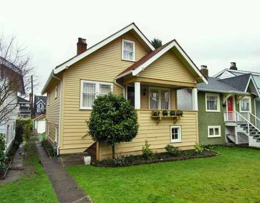 Main Photo: 3565 W 13TH Ave in Vancouver: Kitsilano House for sale (Vancouver West)  : MLS®# V631232