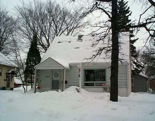Main Photo: 565 TREMBLAY Street in Winnipeg: St Boniface Single Family Detached for sale (South East Winnipeg)  : MLS®# 2500949