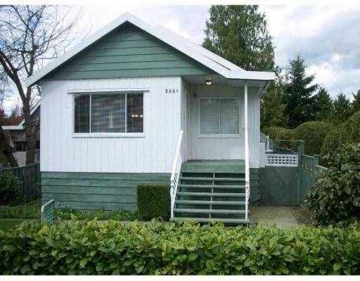 Main Photo: 2561 E 27TH Ave in Vancouver: Collingwood Vancouver East House for sale (Vancouver East)  : MLS®# V637679