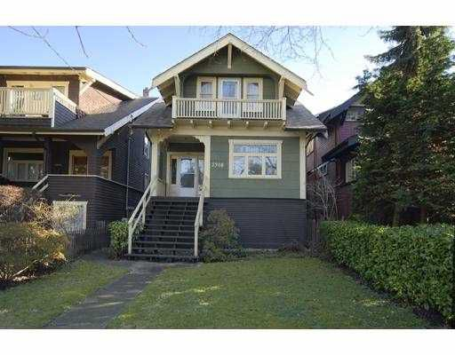 "Main Photo: 2308 DUNBAR Street in Vancouver: Kitsilano House for sale in ""KITSILANO"" (Vancouver West)  : MLS®# V684236"