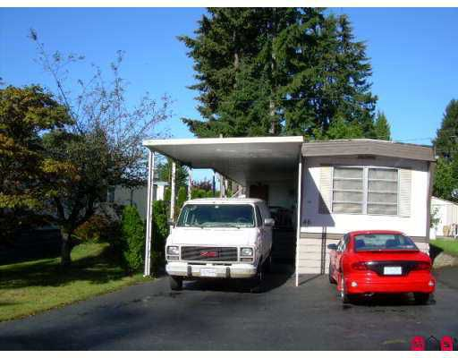 """Main Photo: 46 15820 FRASER Highway in Surrey: Fleetwood Tynehead Manufactured Home for sale in """"Green Tree Estates"""" : MLS®# F2724578"""