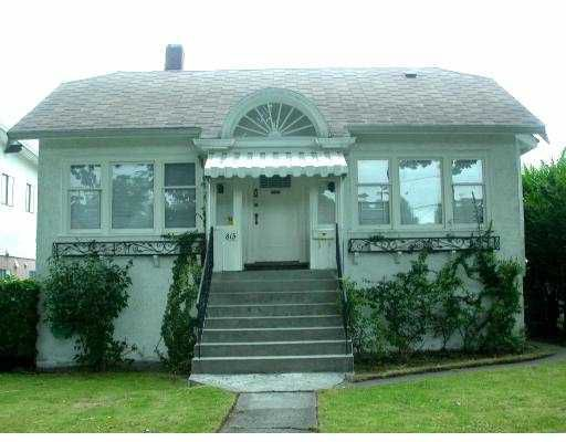 Main Photo: 815 E 21ST Avenue in Vancouver: Fraser VE House for sale (Vancouver East)  : MLS®# V662120