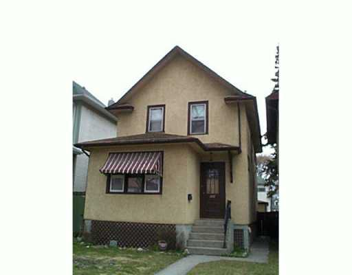 Main Photo:  in Winnipeg: North End Single Family Detached for sale (North West Winnipeg)  : MLS®# 2505553