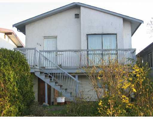 Main Photo: 278 E 43RD Ave in Vancouver: Main House for sale (Vancouver East)  : MLS®# V638890
