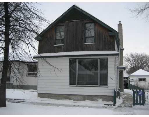 Main Photo: 933 ASHBURN Street in WINNIPEG: West End / Wolseley Residential for sale (West Winnipeg)  : MLS®# 2720077