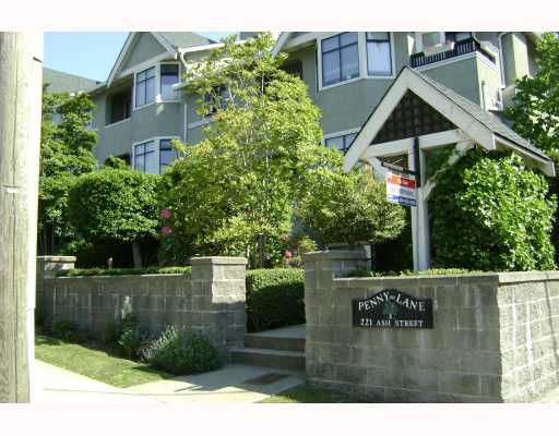 """Main Photo: # 16 221 ASH ST in New_Westminster: Uptown NW Condo for sale in """"PENNY LANE"""" (New Westminster)  : MLS®# V770551"""