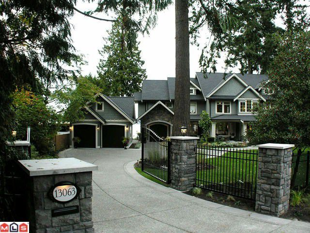 Main Photo: 13063 CRESCENT Road in Surrey: Elgin Chantrell House for sale (South Surrey White Rock)  : MLS®# F1006289