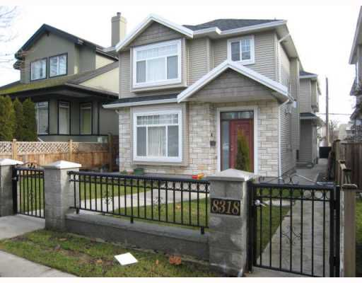 Main Photo: 8318 FREMLIN Street in Vancouver: Marpole House 1/2 Duplex for sale (Vancouver West)  : MLS®# V752493