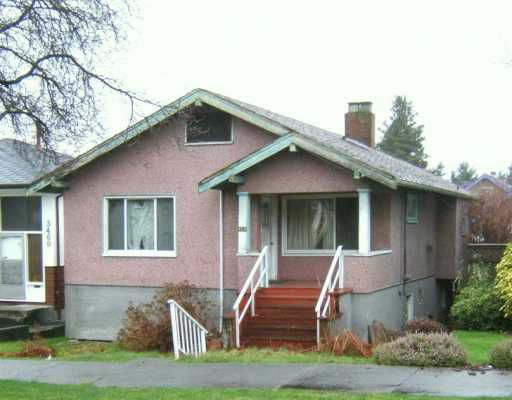 Main Photo: 3454 E GEORGIA ST in Vancouver: Renfrew VE House for sale (Vancouver East)  : MLS®# V573560