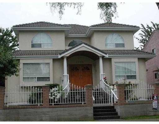 Main Photo: 2263 BONNYVALE AV in Vancouver: Fraserview VE House for sale (Vancouver East)  : MLS®# V545856