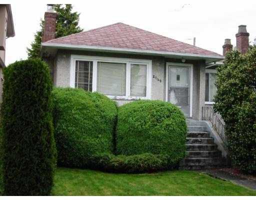 Main Photo: 2749 W 21ST AV in Vancouver: Arbutus House for sale (Vancouver West)  : MLS®# V544067