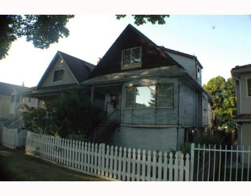 Main Photo: 1787 E 13TH Avenue in Vancouver: Grandview VE House for sale (Vancouver East)  : MLS®# V789803