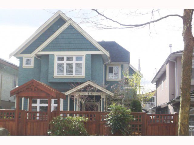 Main Photo: 1816 E 13TH Avenue in Vancouver: Grandview VE House 1/2 Duplex for sale (Vancouver East)  : MLS®# V817367