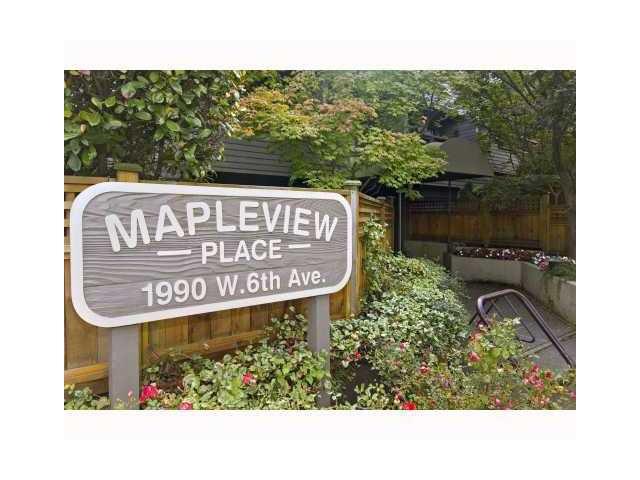 Main Photo: 312 1990 W 6TH Avenue in Vancouver: Kitsilano Condo for sale (Vancouver West)  : MLS®# V836973