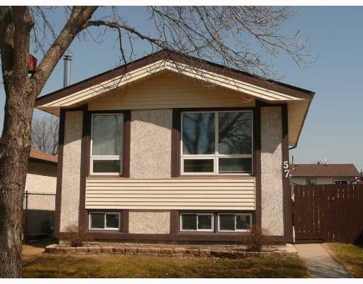 Main Photo: 57 LEATHERWOOD Crescent in WINNIPEG: North Kildonan Residential for sale (North East Winnipeg)  : MLS®# 2905559