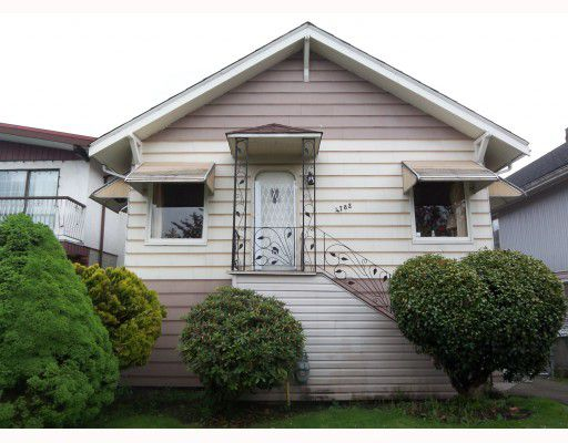 Main Photo: 4782 BEATRICE Street in Vancouver: Victoria VE House for sale (Vancouver East)  : MLS®# V766201