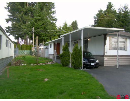 "Main Photo: 46 15820 FRASER Highway in Surrey: Fleetwood Tynehead Manufactured Home for sale in ""GREENTREE ESTATES"" : MLS®# F2908654"
